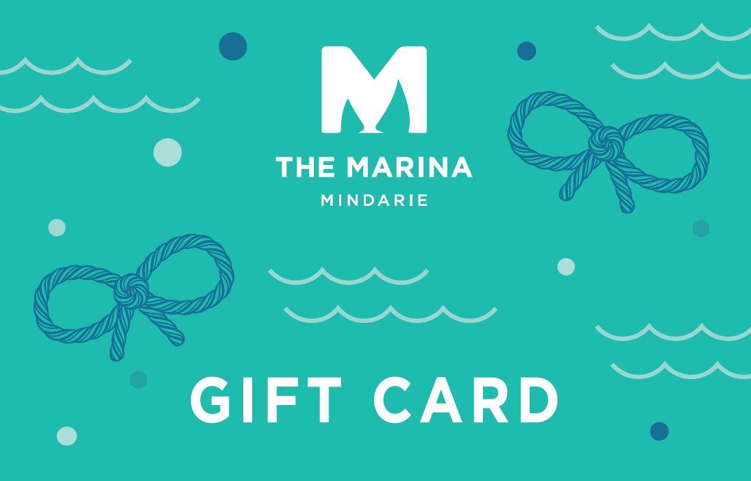 Mindarie logo and gift vouchers